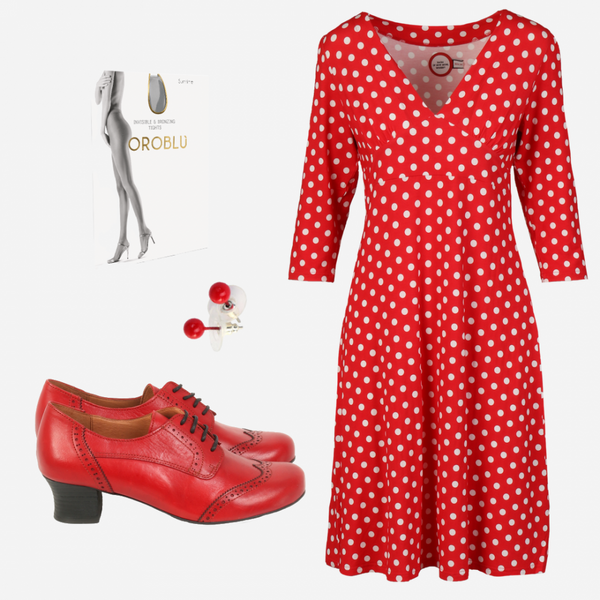 Image of Eirin red white shop the look