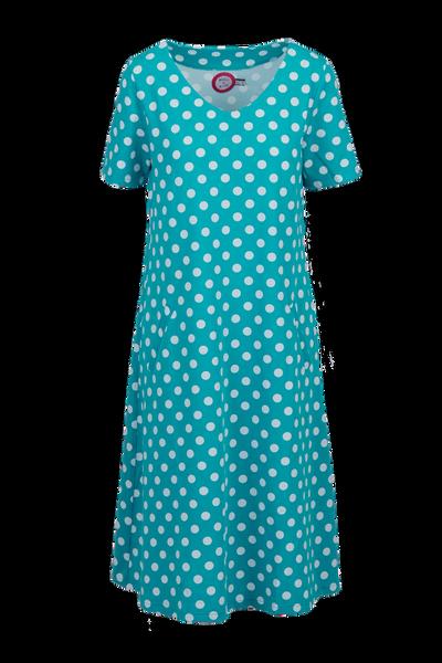Image of Della petrol and white dress