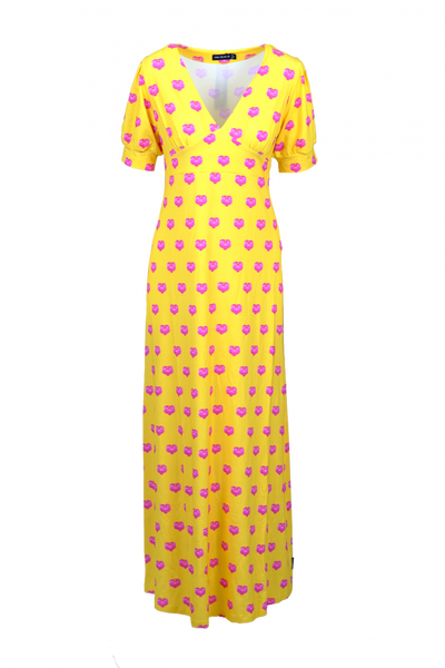 Image of Orchide yellow and pink dress