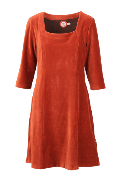 Image of Milla dress babycord rust