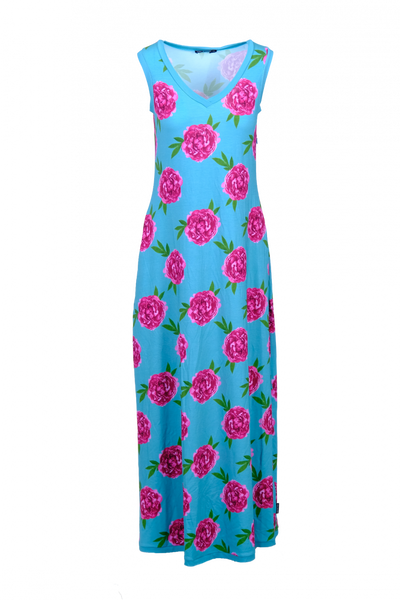 Image of Peon kjole turkis og rosa D