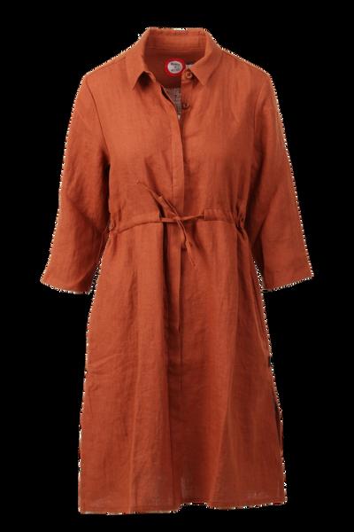 Image of Samanta rust orange  linnen