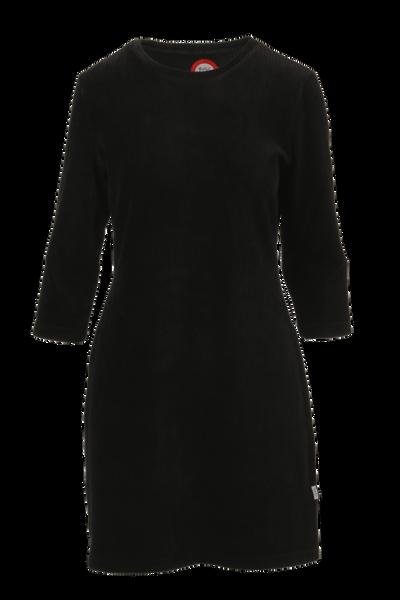 Image of Linn black short velvet dress