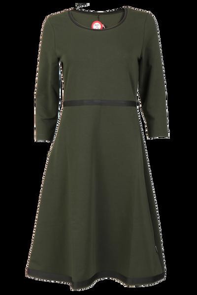 Image of Magda olive green dress
