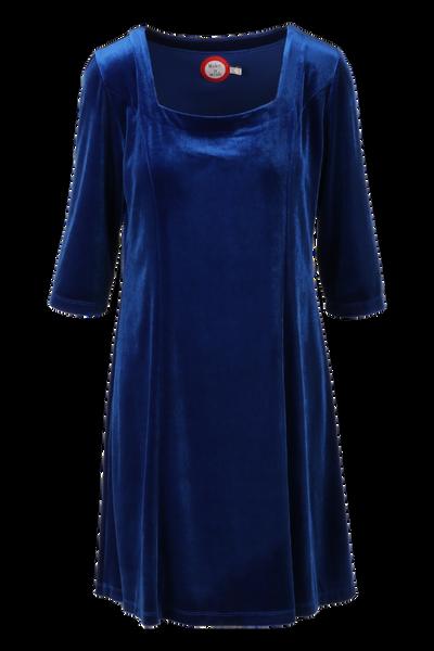 Image of Maja velor dress royal blue