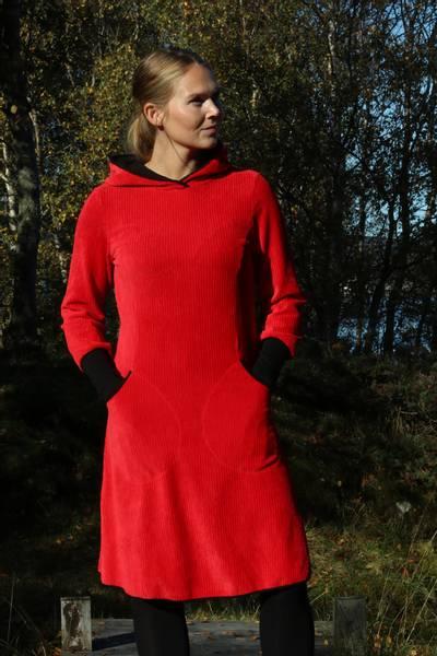 Image of Kjerstin red hoodiedress