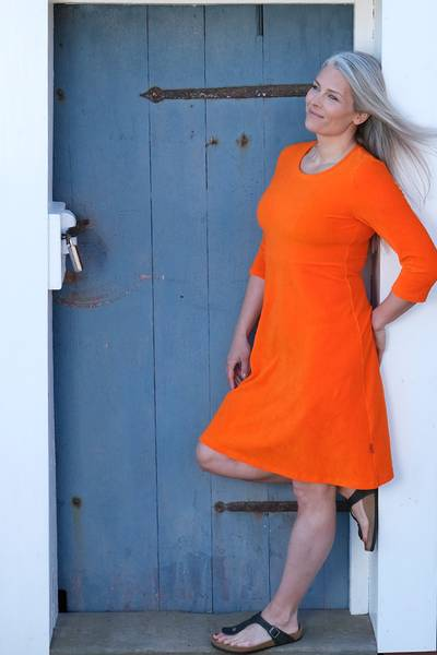 Image of Elli dress babycord orange