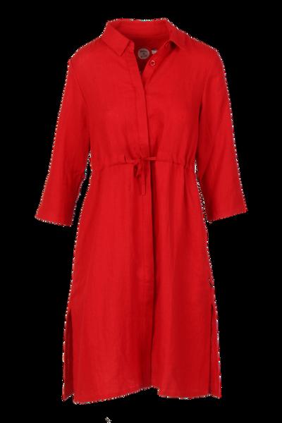 Image of Samanta red linnen dress
