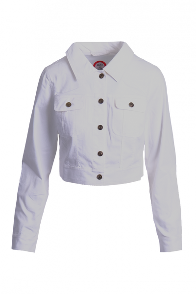 Image of White classic jeans jacket