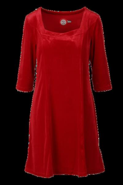 Image of Maja velor dress red