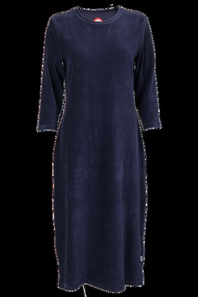 Image of Malla blue velvet dress