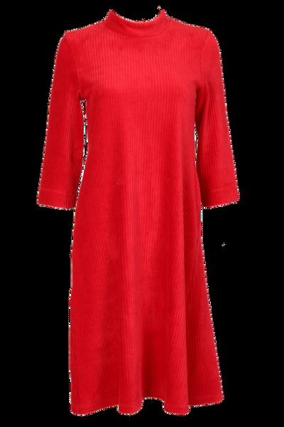 Image of Rut red velvet dress