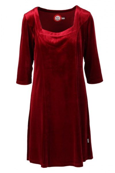 Image of Maja velor dress winered