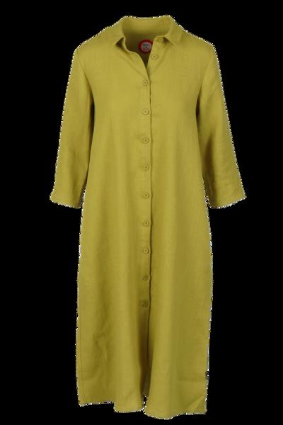Image of Cecillia yellow green linnen