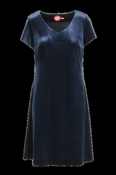 Image of Isa blue velvet dress