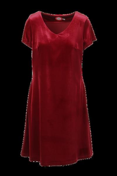 Image of Isa red velvet dress