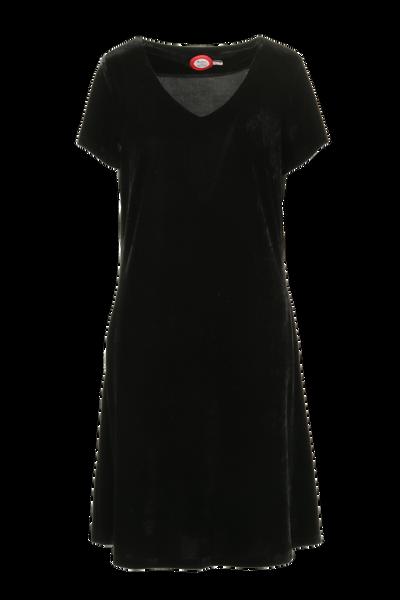 Image of Isa black velvet dress