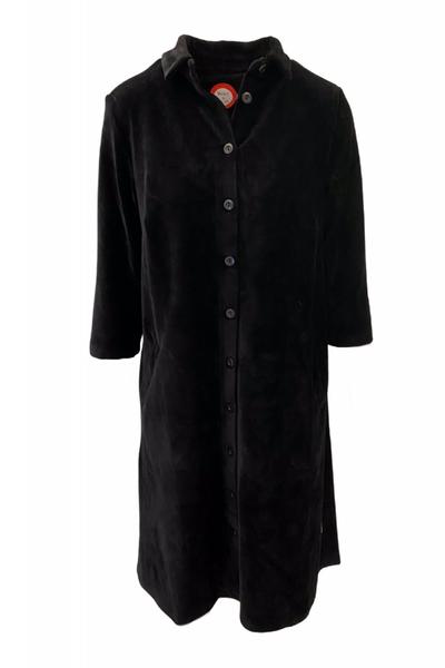 Image of Silje black shirt dress