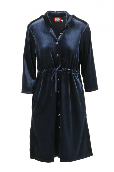 Image of Beth blue velvetdress/jacket