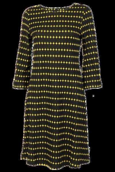 Image of Simone black and yellow dress