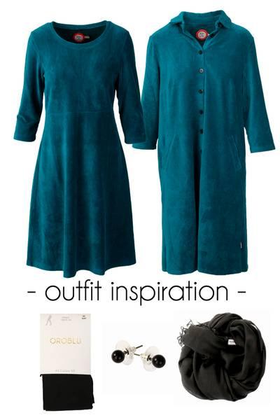Image of Outfit Elli & Silje petrol