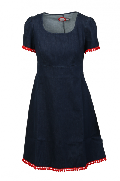 Image of Lise Jeansdress blue/red