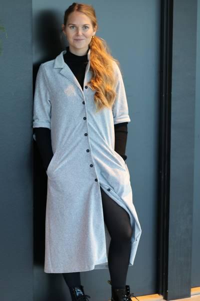 Image of Giselle grey shirt dress