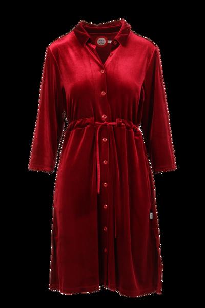 Image of Beth red velvet dress /