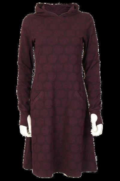 Image of Jannike burgundy dress