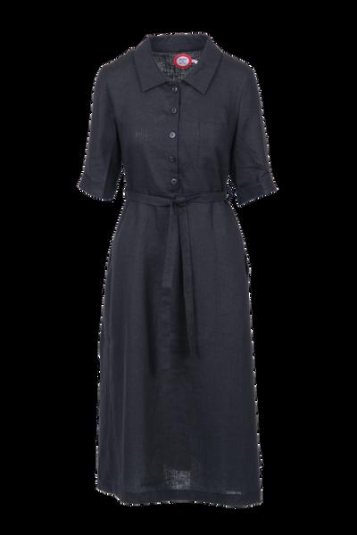 Image of Pernilla linendress in black