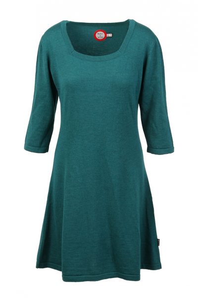 Image of Kim petrol merinowool dress