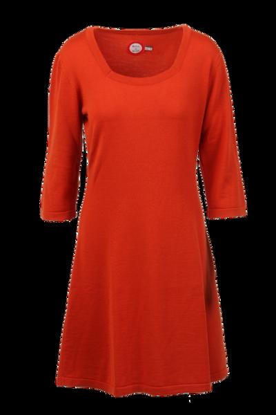 Image of Kim rust merinowool dress