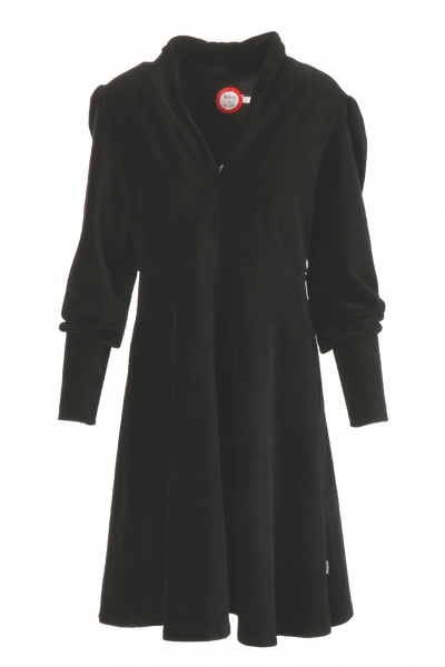 Image of Louise dress babycord black