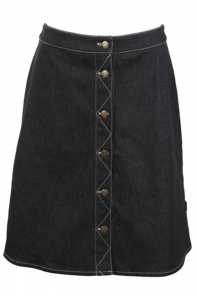 Image of Black classic jeans skirt
