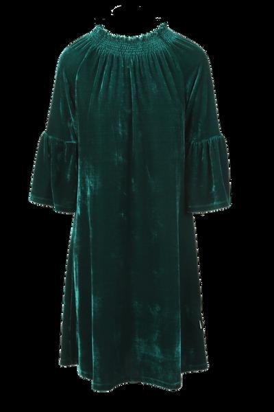 Image of Roberta green petrol velvet
