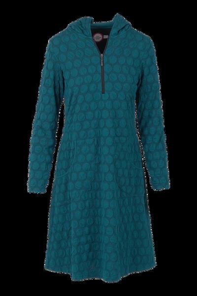 Image of Lotta petrol dress