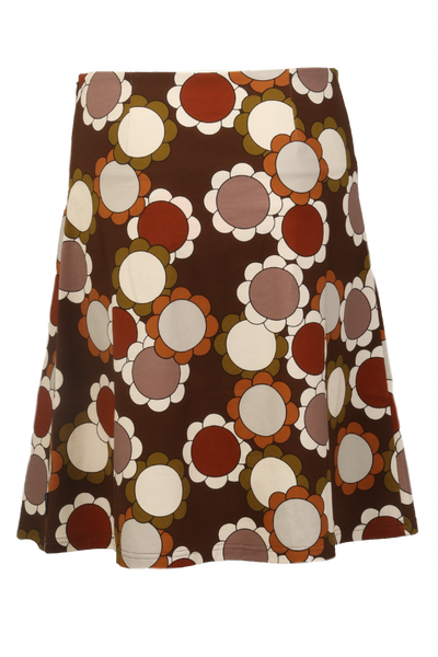 Image of Kati brown skirt flower power