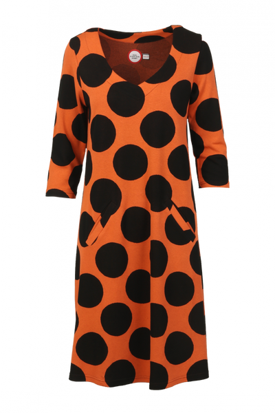 Image of Lone orange black dress