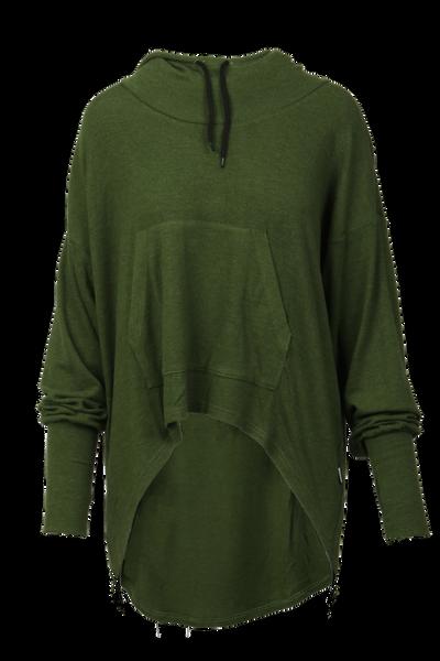 Image of Inger loose hoodie green