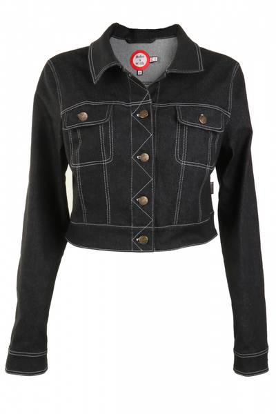 Image of Black classic jeans jacket