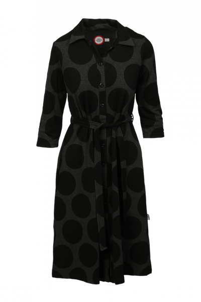Image of Leila black grey dress