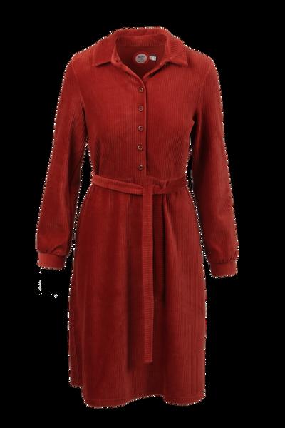 Image of Tara rust velvet dress