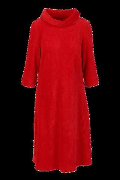Image of Pamela red velvet dress