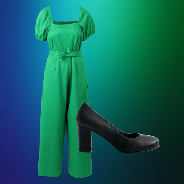 Image of Peggy green shop the look