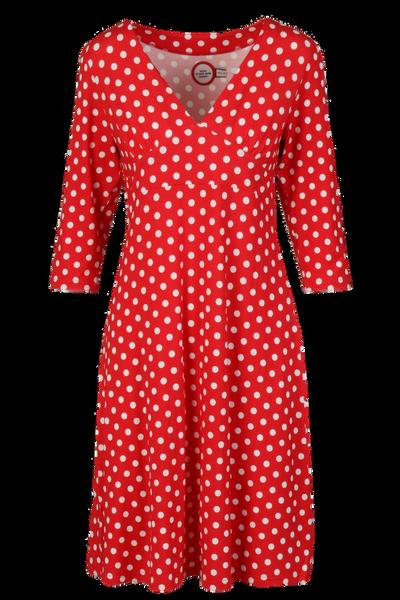Image of Eirin red white polkadot