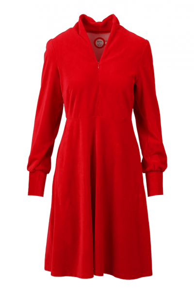 Image of Louise dress babycord red