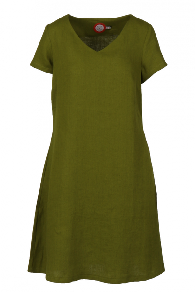 Image of Hannalena oliven linnen dress