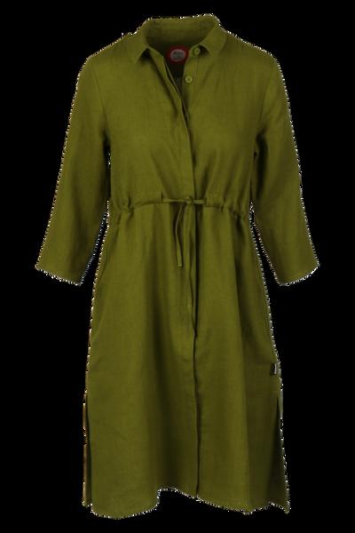 Image of Samanta olive green linnen