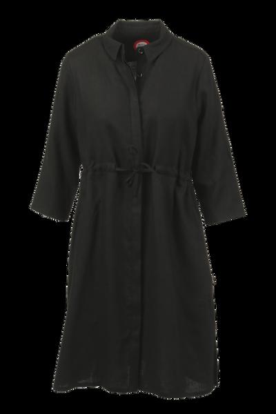 Image of Samanta black linnen dress