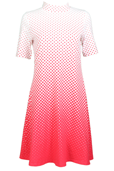 Image of Alexandra red and white dress